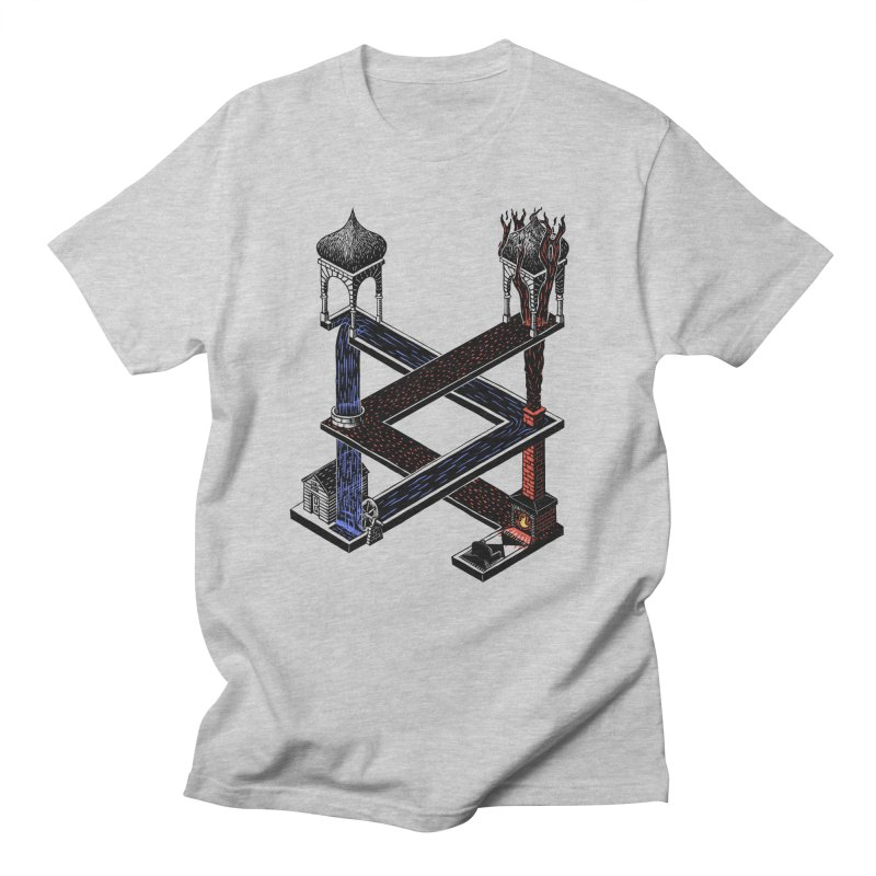 Fire & Water Men's T-Shirt by bobvogt's Artist Shop