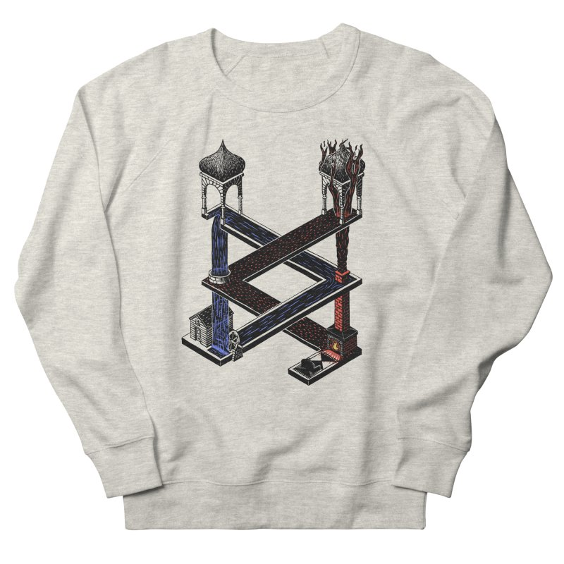 Fire & Water Women's Sweatshirt by bobvogt's Artist Shop