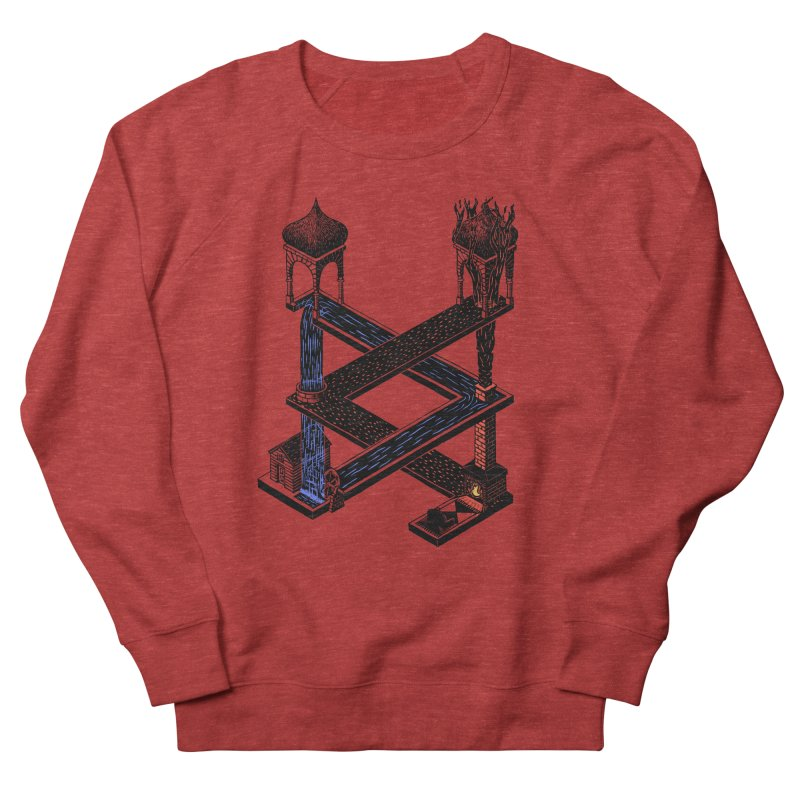 Fire & Water Men's Sweatshirt by bobvogt's Artist Shop