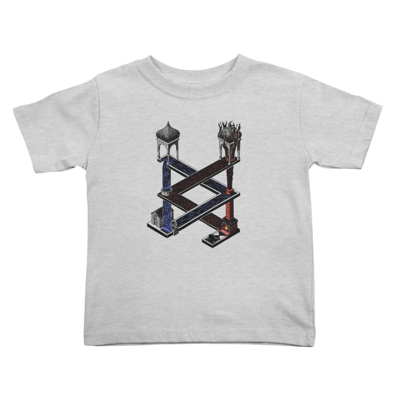 Fire & Water Kids Toddler T-Shirt by bobvogt's Artist Shop