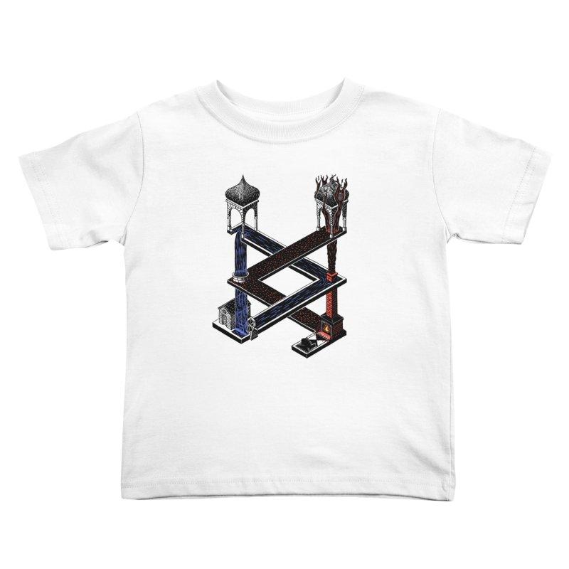 Fire & Water Kids Toddler T-Shirt by bobvogt's Artist Shop