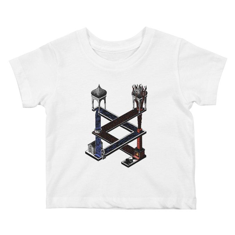 Fire & Water Kids Baby T-Shirt by bobvogt's Artist Shop