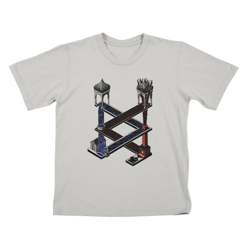 Fire & Water Kids T-Shirt by bobvogt's Artist Shop