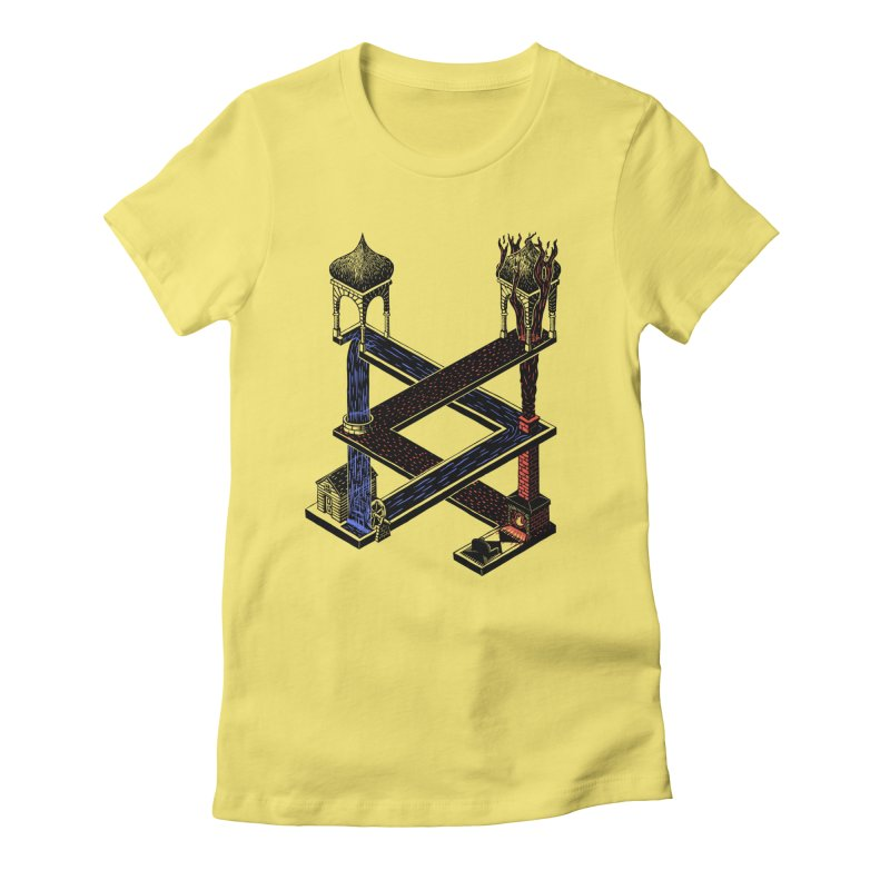 Fire & Water Women's Fitted T-Shirt by bobvogt's Artist Shop