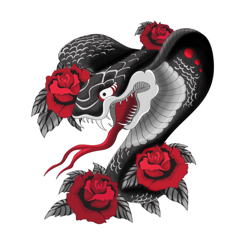 Cobra&Roses by bobygates's Artist Shop