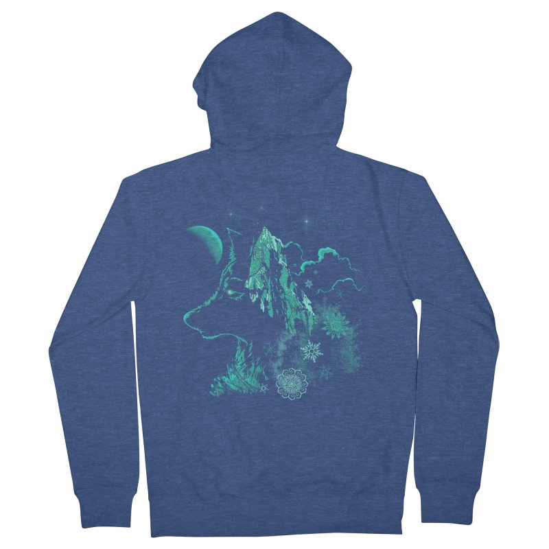 Winter Women's French Terry Zip-Up Hoody by bobygates's Artist Shop