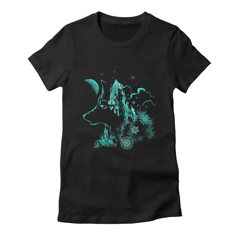 Winter Women's Fitted T-Shirt by bobygates's Artist Shop