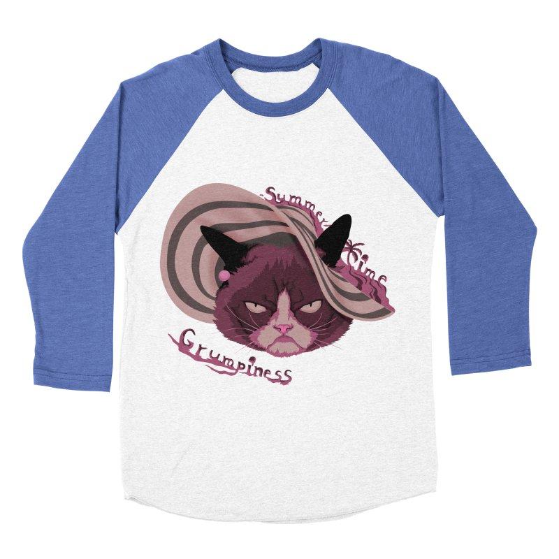 Summertime Grumpiness Women's Baseball Triblend Longsleeve T-Shirt by bobygates's Artist Shop