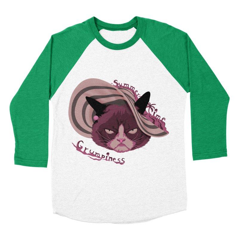 Summertime Grumpiness Women's Baseball Triblend T-Shirt by bobygates's Artist Shop