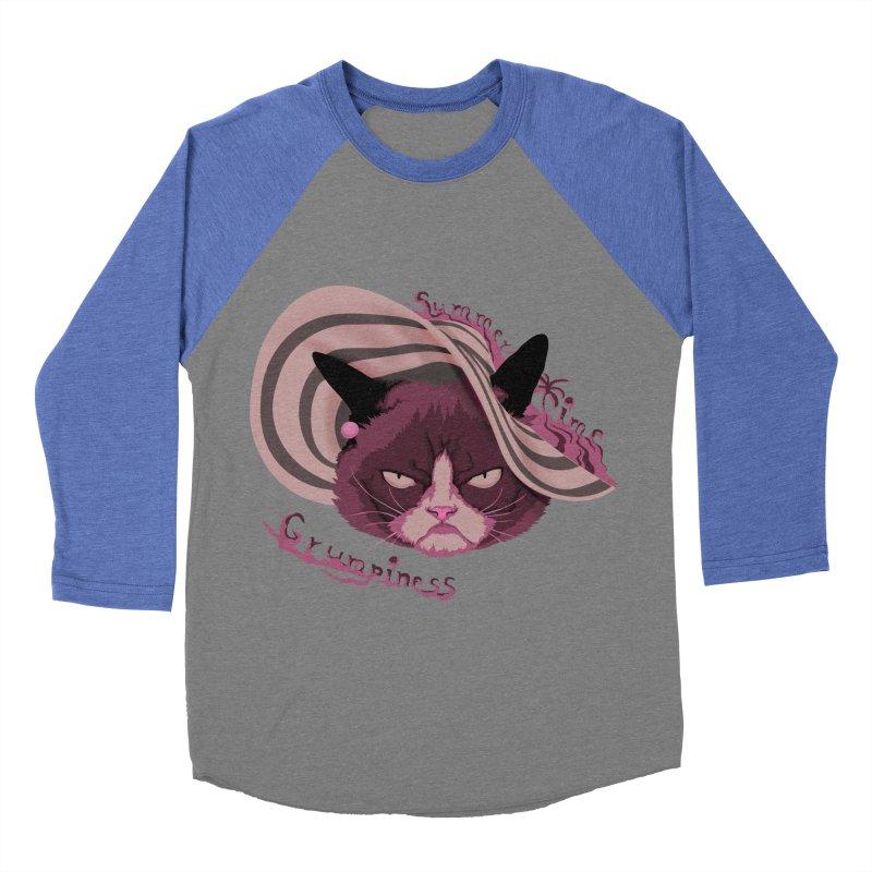 Summertime Grumpiness Men's Baseball Triblend Longsleeve T-Shirt by bobygates's Artist Shop