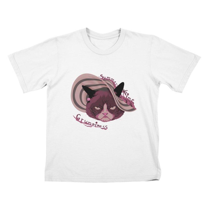 Summertime Grumpiness Kids T-shirt by bobygates's Artist Shop