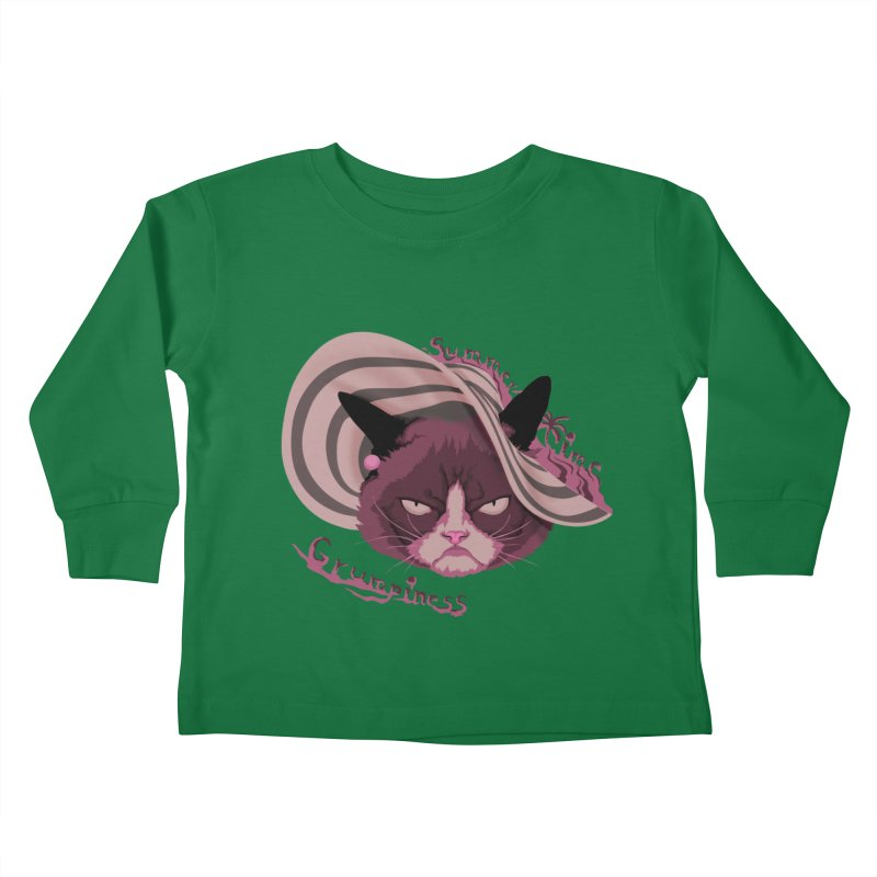 Summertime Grumpiness Kids Toddler Longsleeve T-Shirt by bobygates's Artist Shop