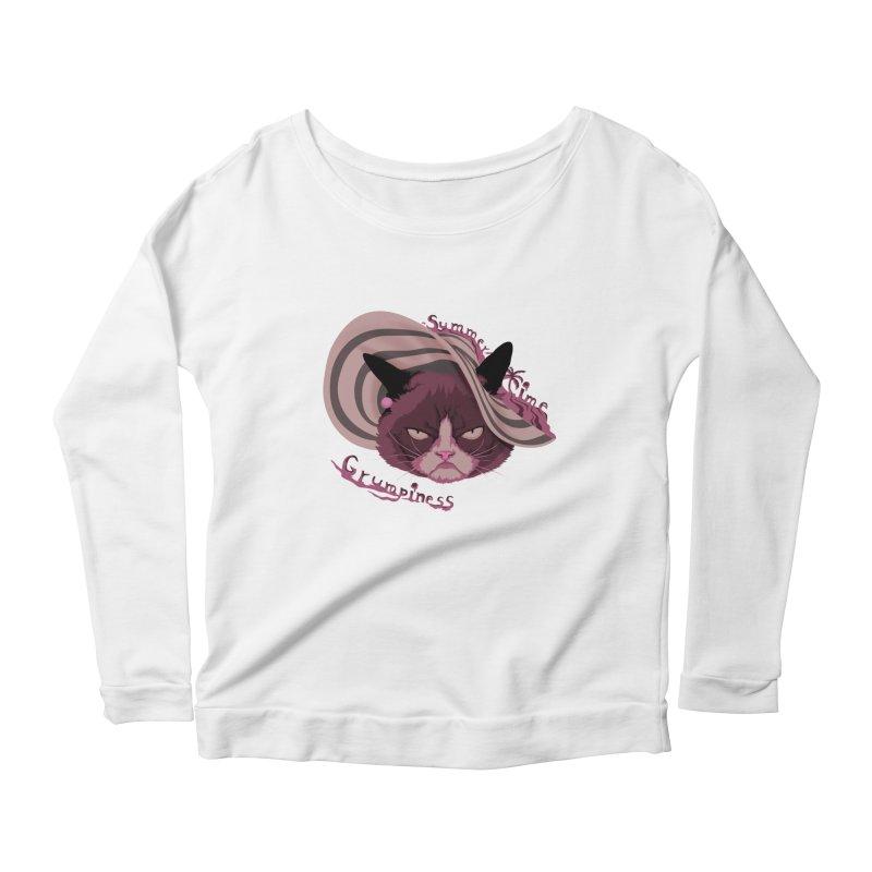 Summertime Grumpiness Women's Scoop Neck Longsleeve T-Shirt by bobygates's Artist Shop