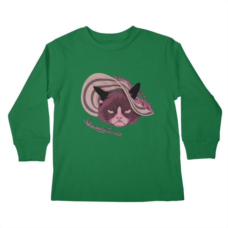 Summertime Grumpiness Kids Longsleeve T-Shirt by bobygates's Artist Shop