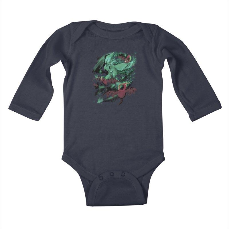Underworld Kids Baby Longsleeve Bodysuit by bobygates's Artist Shop