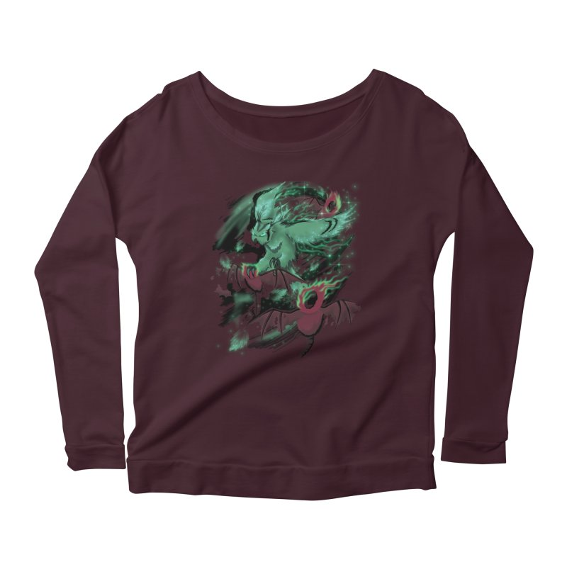 Underworld Women's Scoop Neck Longsleeve T-Shirt by bobygates's Artist Shop