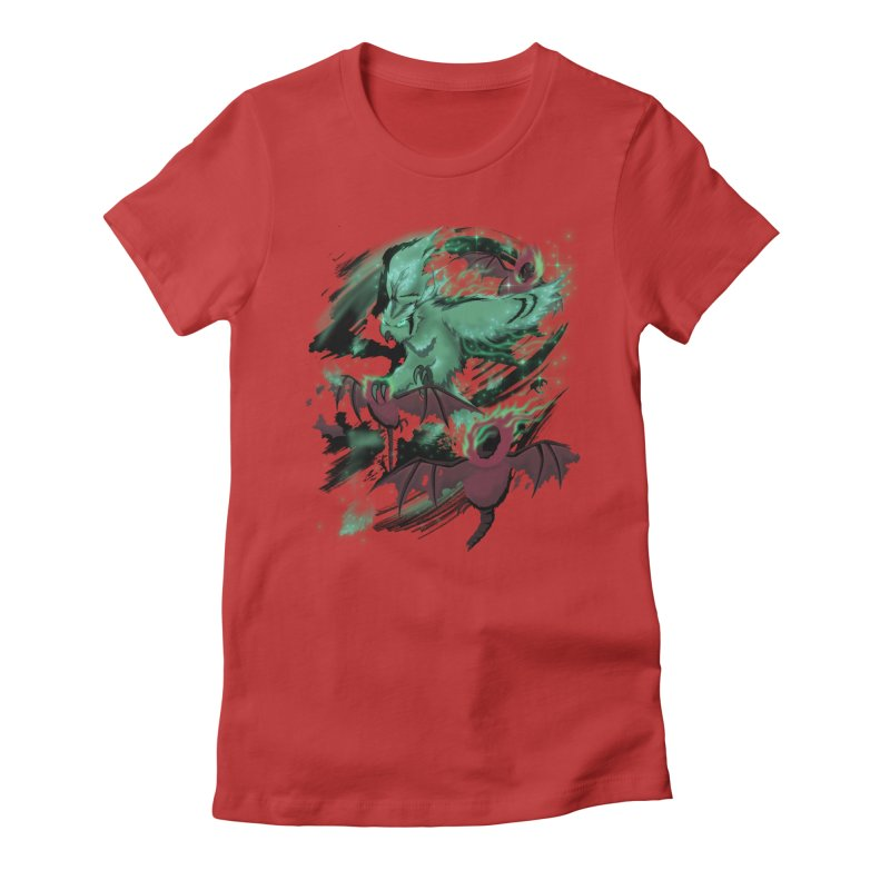 Underworld Women's Fitted T-Shirt by bobygates's Artist Shop