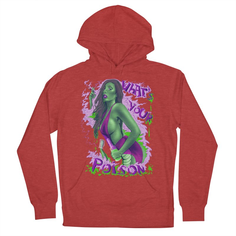 Poison Men's French Terry Pullover Hoody by bobygates's Artist Shop