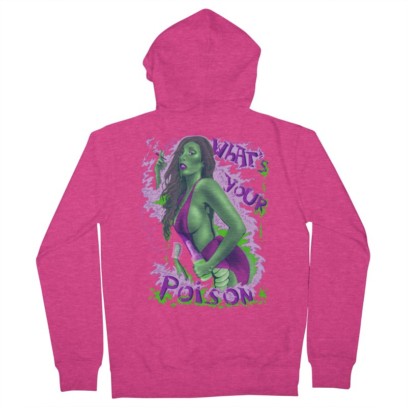 Poison Women's French Terry Zip-Up Hoody by bobygates's Artist Shop