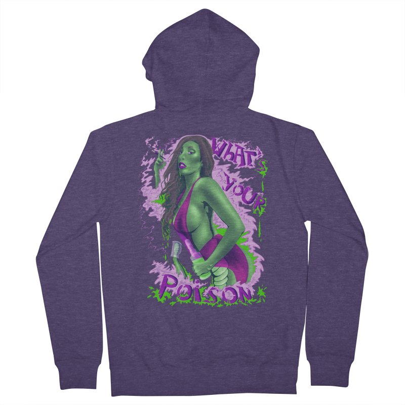 Poison Men's Zip-Up Hoody by bobygates's Artist Shop