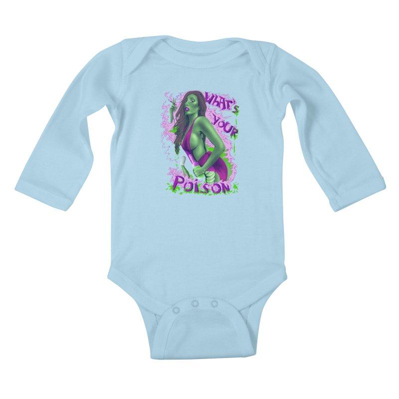 Poison Kids Baby Longsleeve Bodysuit by bobygates's Artist Shop