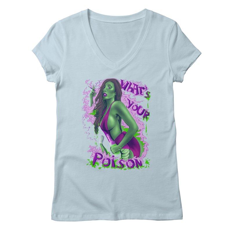 Poison Women's V-Neck by bobygates's Artist Shop