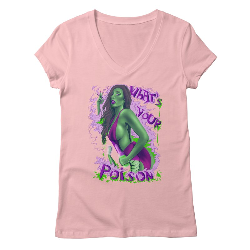 Poison Women's Regular V-Neck by bobygates's Artist Shop
