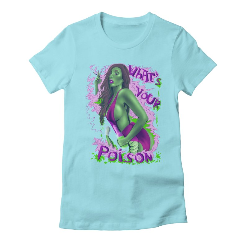 Poison Women's Fitted T-Shirt by bobygates's Artist Shop