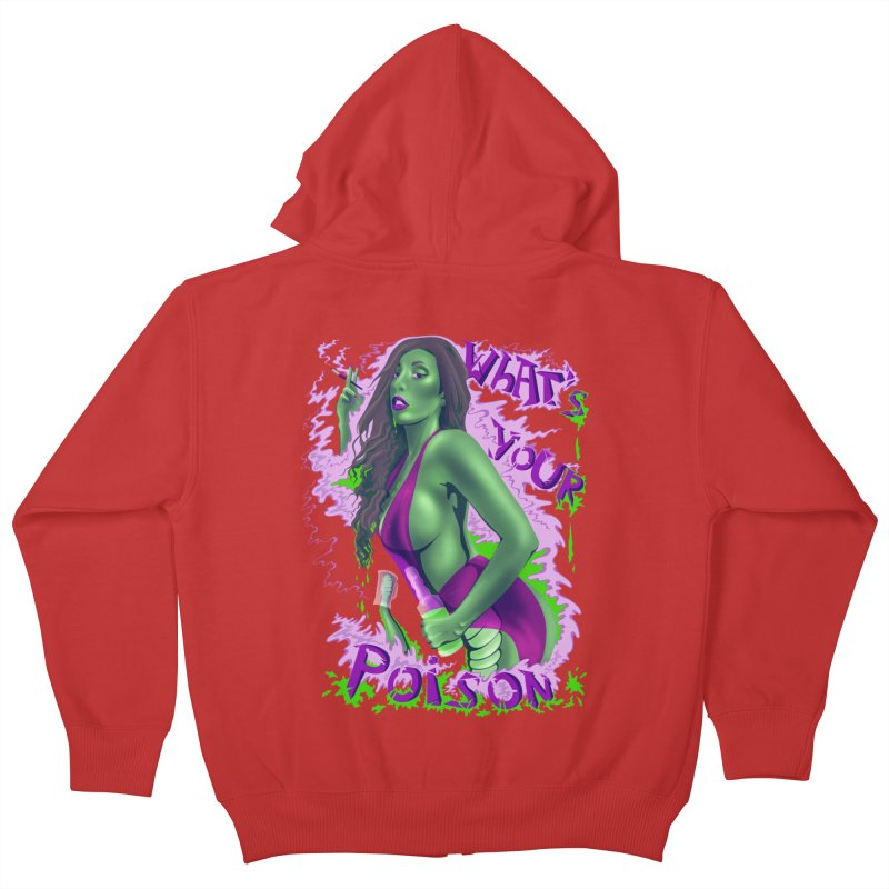 Poison Kids Zip-Up Hoody by bobygates's Artist Shop