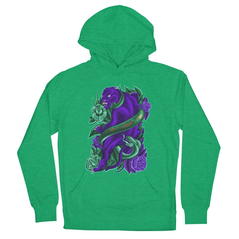 Panther&Snake Men's French Terry Pullover Hoody by bobygates's Artist Shop