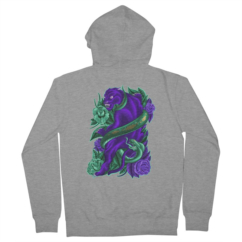 Panther&Snake Women's French Terry Zip-Up Hoody by bobygates's Artist Shop