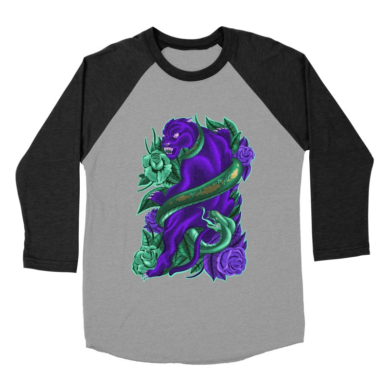 Panther&Snake Women's Baseball Triblend Longsleeve T-Shirt by bobygates's Artist Shop