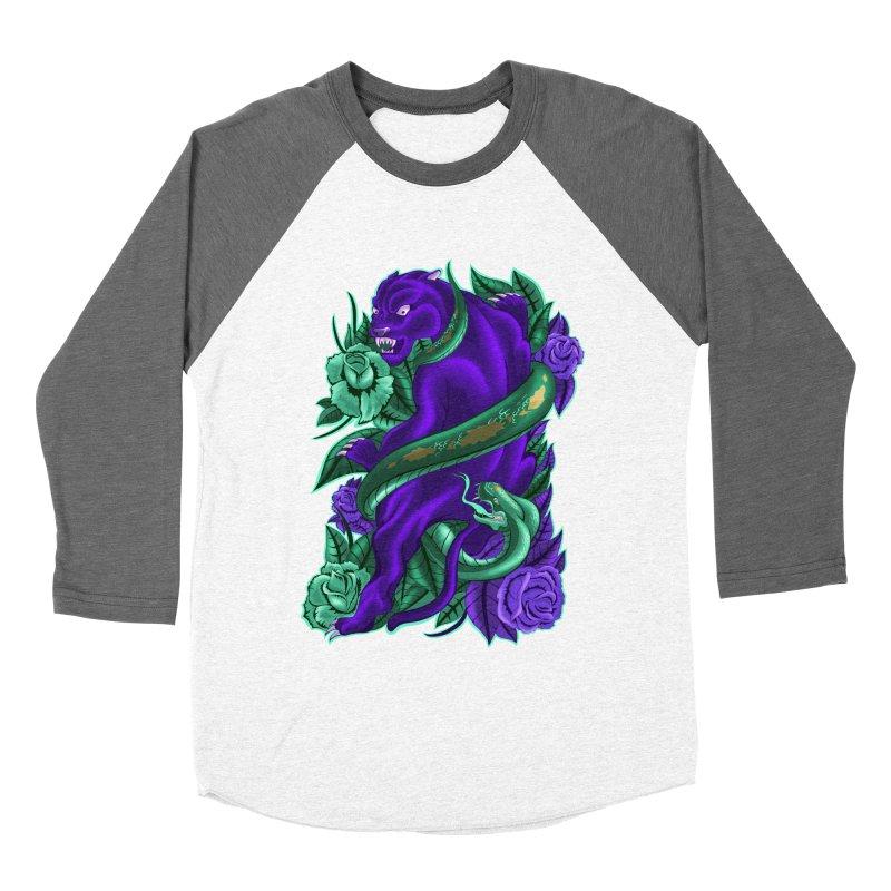 Panther&Snake Men's Baseball Triblend Longsleeve T-Shirt by bobygates's Artist Shop