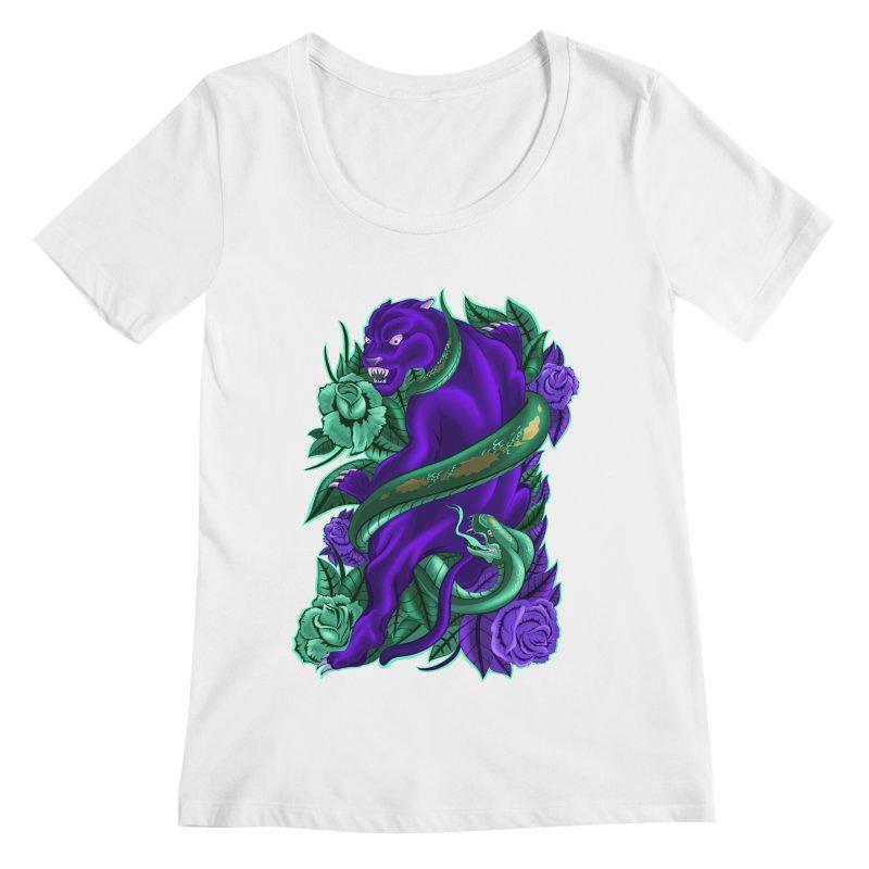 Panther&Snake Women's Regular Scoop Neck by bobygates's Artist Shop