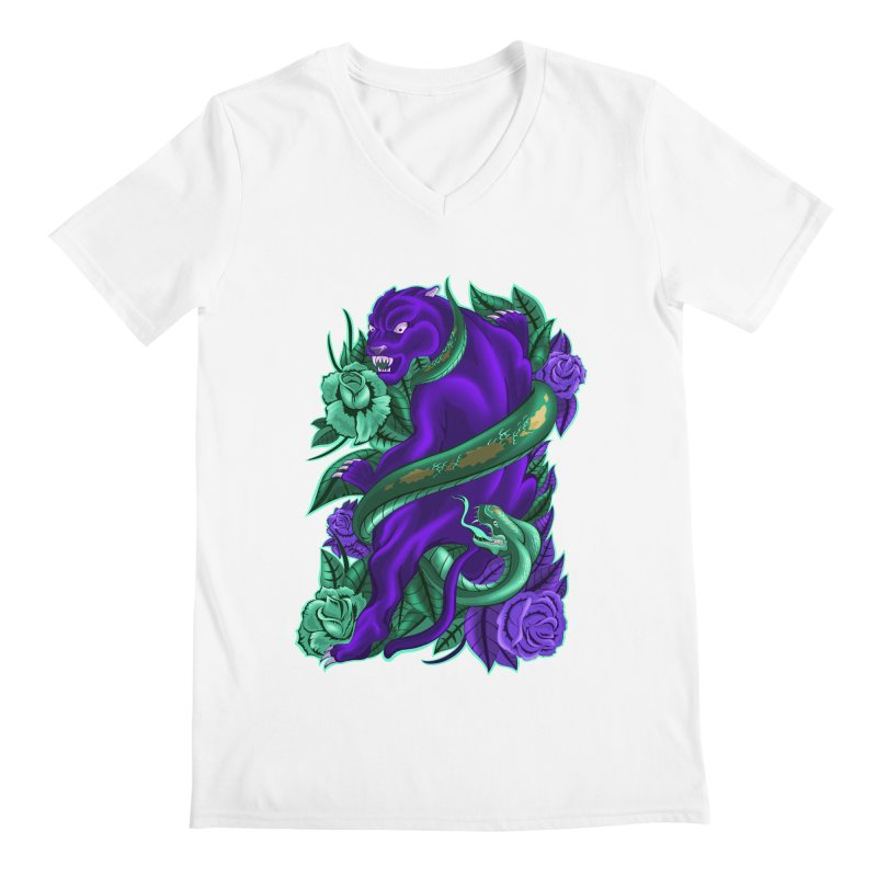 Panther&Snake Men's V-Neck by bobygates's Artist Shop