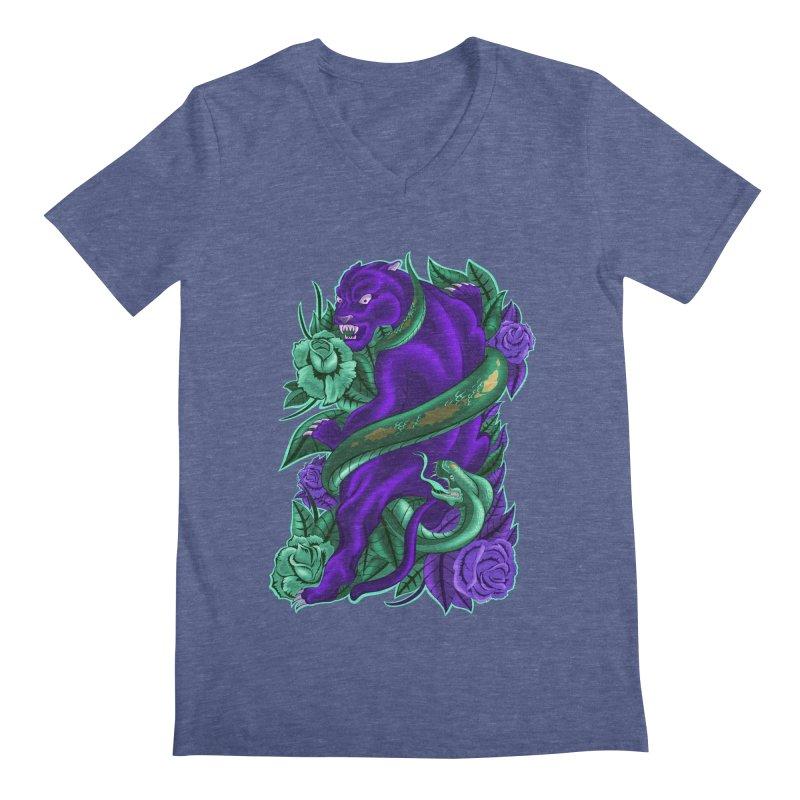 Panther&Snake Men's V-Neck by bobygates's Artist Shop