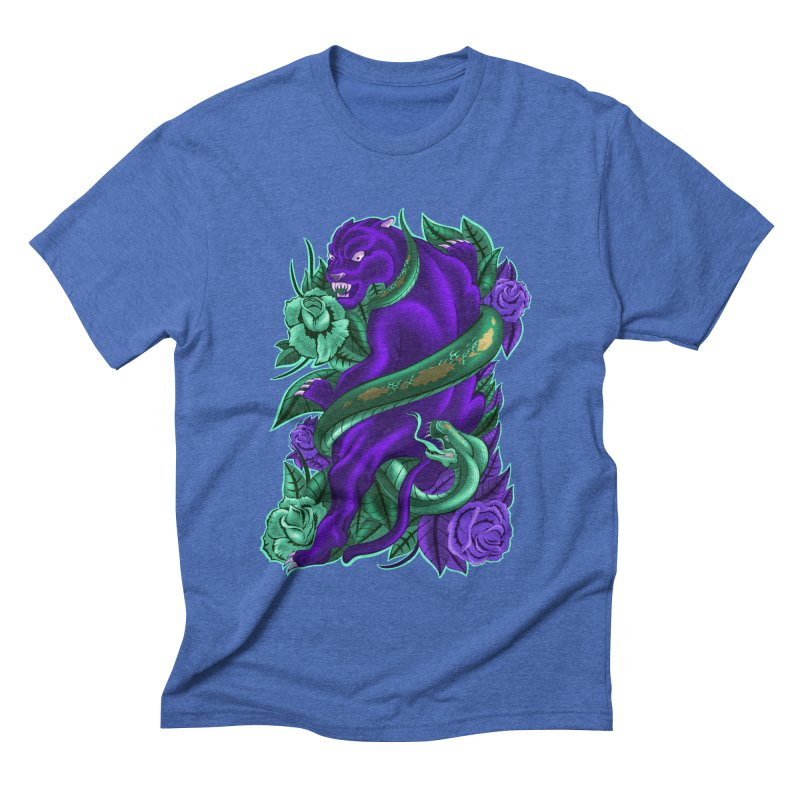 Panther&Snake Men's Triblend T-shirt by bobygates's Artist Shop