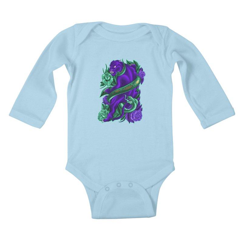 Panther&Snake Kids Baby Longsleeve Bodysuit by bobygates's Artist Shop