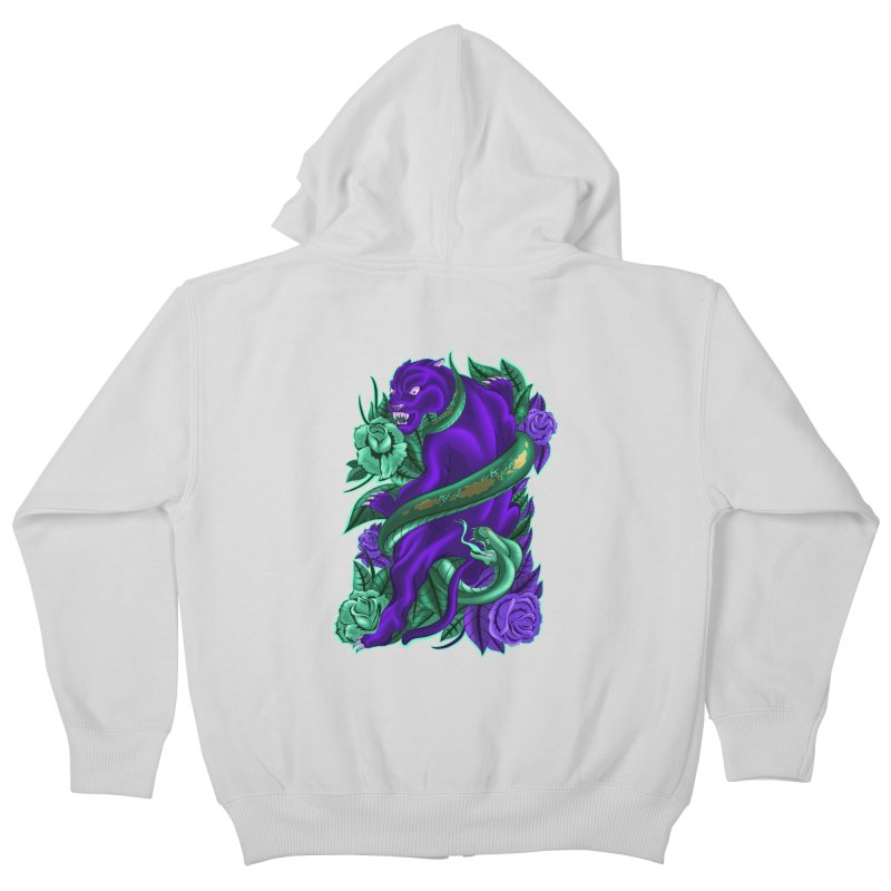 Panther&Snake Kids Zip-Up Hoody by bobygates's Artist Shop