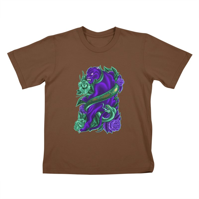 Panther&Snake Kids T-Shirt by bobygates's Artist Shop