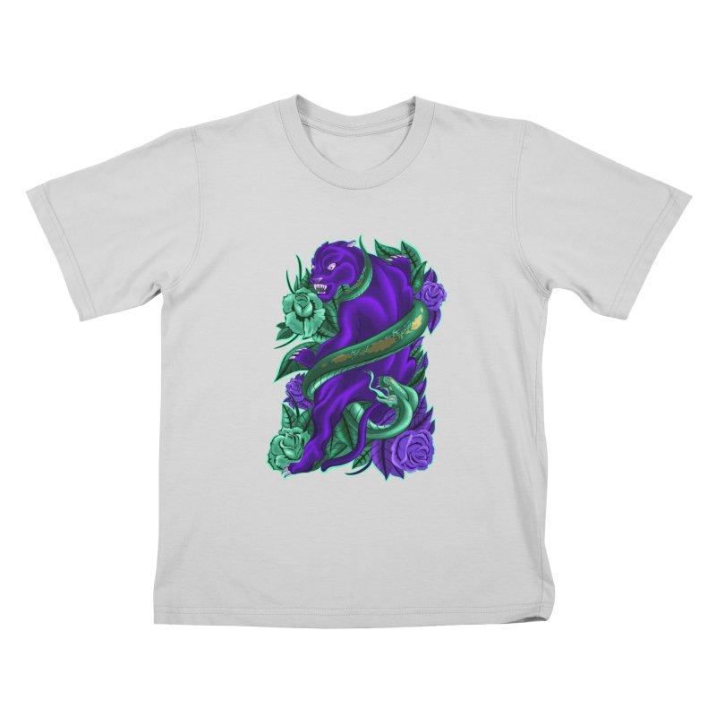 Panther&Snake Kids T-Shirt by bobygates's Artist Shop