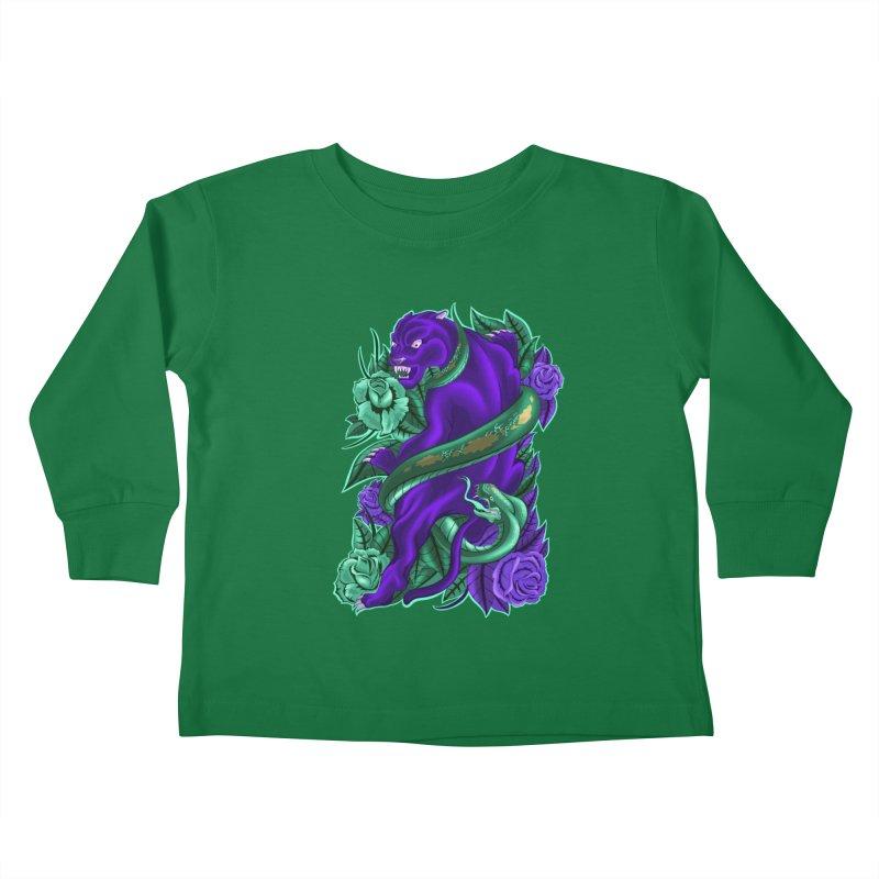 Panther&Snake Kids Toddler Longsleeve T-Shirt by bobygates's Artist Shop