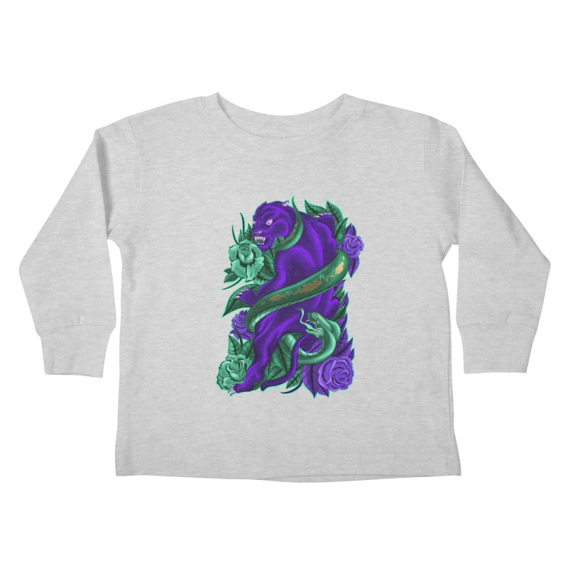 Panther&Snake Kids Toddler Longsleeve T-Shirt by bobygates's Artist Shop