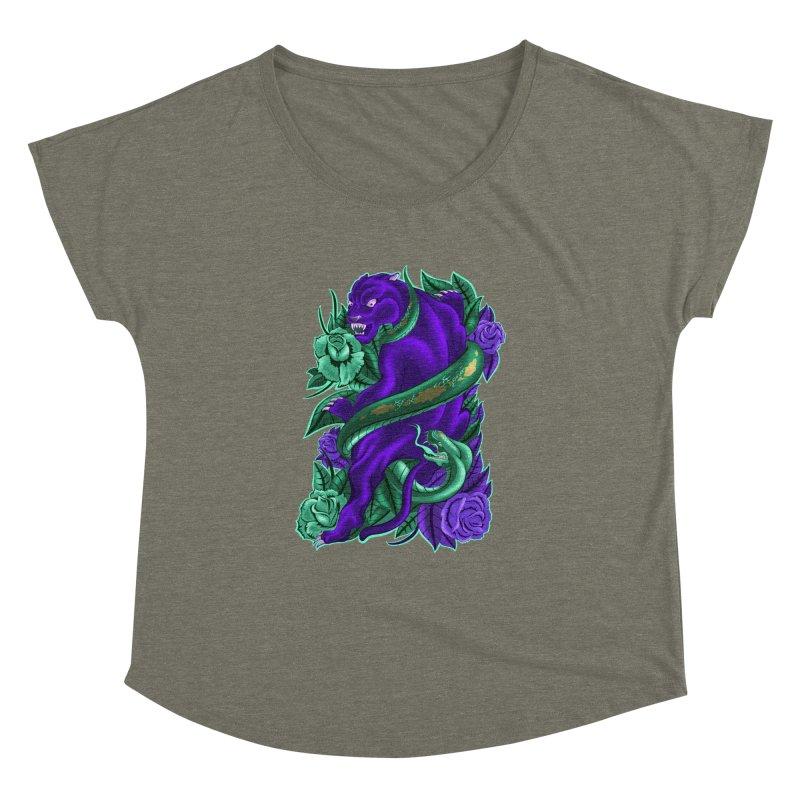 Panther&Snake Women's Dolman Scoop Neck by bobygates's Artist Shop