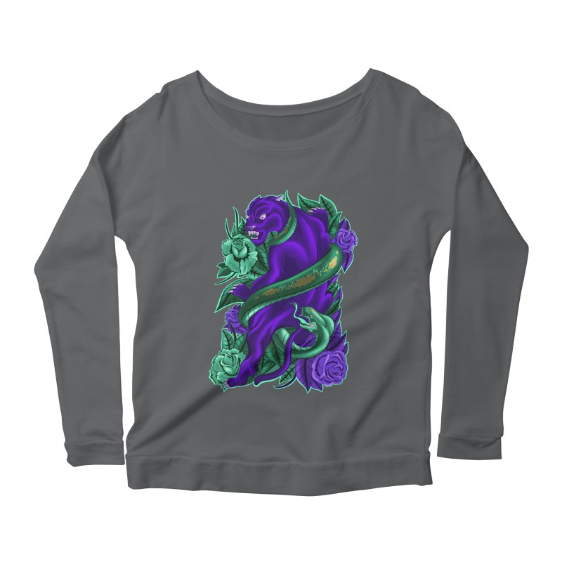 Panther&Snake Women's Scoop Neck Longsleeve T-Shirt by bobygates's Artist Shop