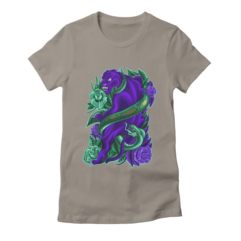 Panther&Snake Women's Fitted T-Shirt by bobygates's Artist Shop