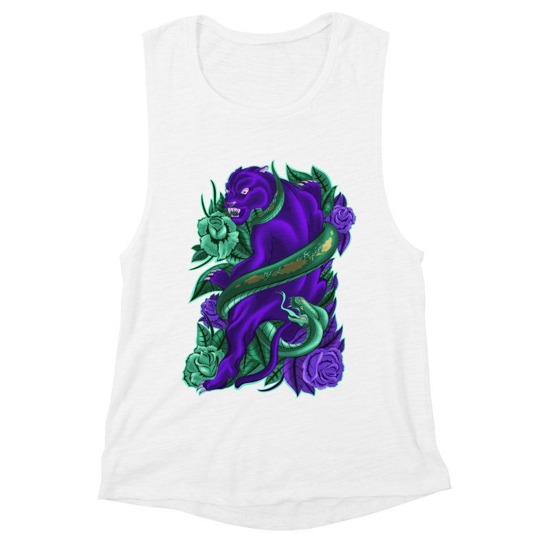 Panther&Snake Women's Muscle Tank by bobygates's Artist Shop