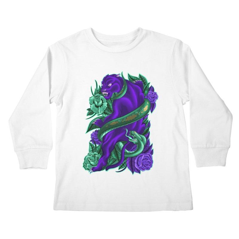 Panther&Snake Kids Longsleeve T-Shirt by bobygates's Artist Shop