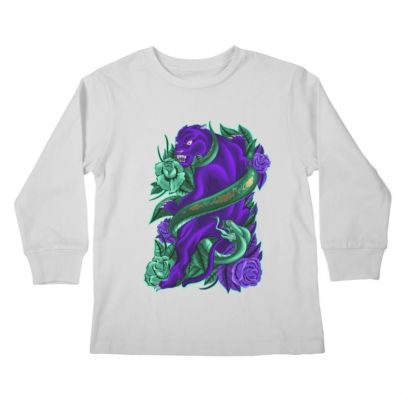 Panther&Snake Kids Longsleeve T-Shirt by bobygates's Artist Shop