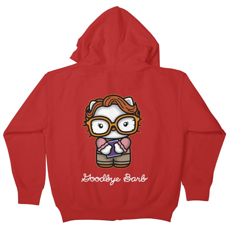 Goodbye Barb Kids Zip-Up Hoody by boggsnicolas's Artist Shop